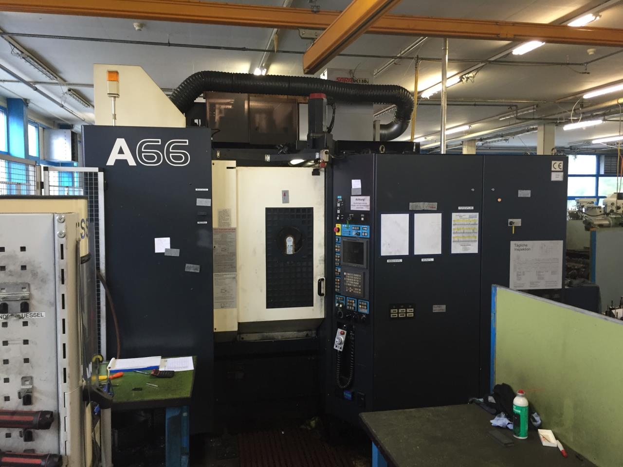 Production line with 2 machining centers horiz. MAKINO A 66 A206 + A 55e A225