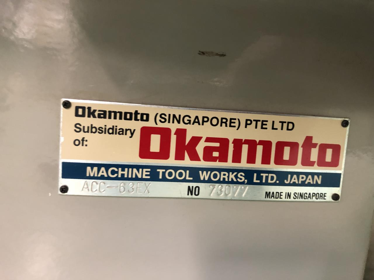 OKAMOTO ACC 63 EX | CNC Surface grinder | Second-hand ... on
